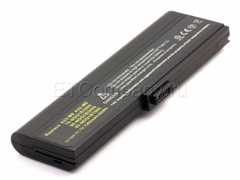Аккумулятор для Asus M9, W7 серии, усиленный, черный