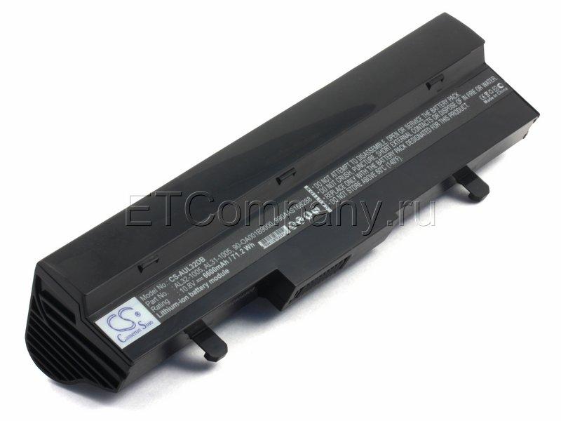 Аккумулятор для Asus Eee PC 1001, 1005, 1101, 1104. серии усиленный, черный