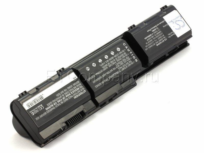 Аккумулятор для Acer Aspire 1420, 1425, 1820, 1825 серии усиленный, черный