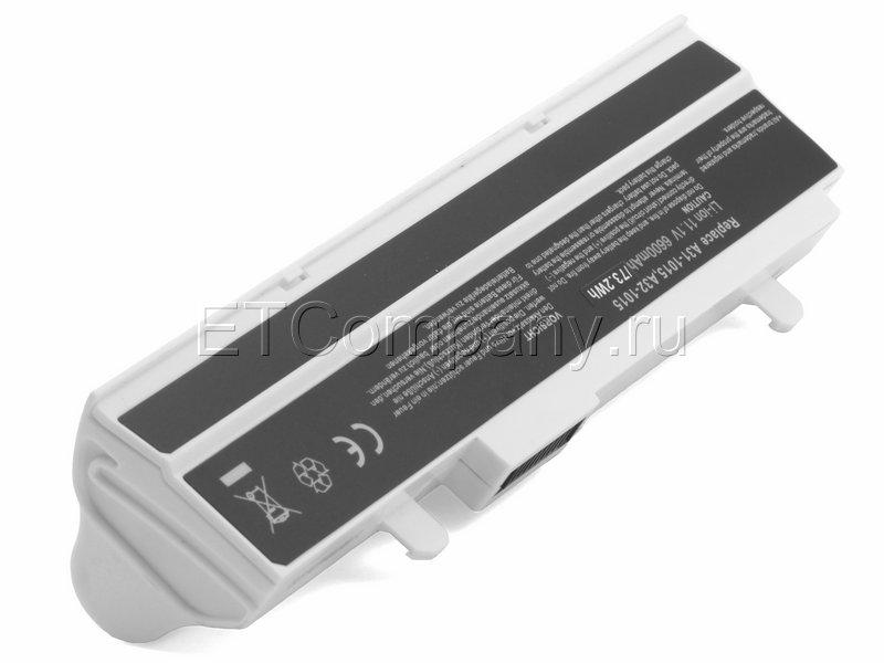 Аккумулятор для Asus Eee PC 1011, 1015, 1016, 1215. серии усиленный, белый