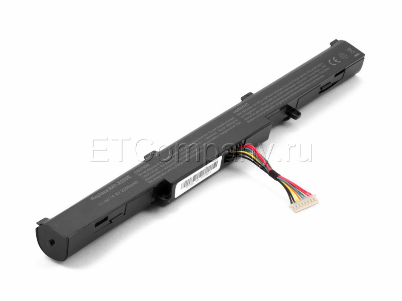 Аккумулятор для Asus X450J, X450JF, F750J серии, черный