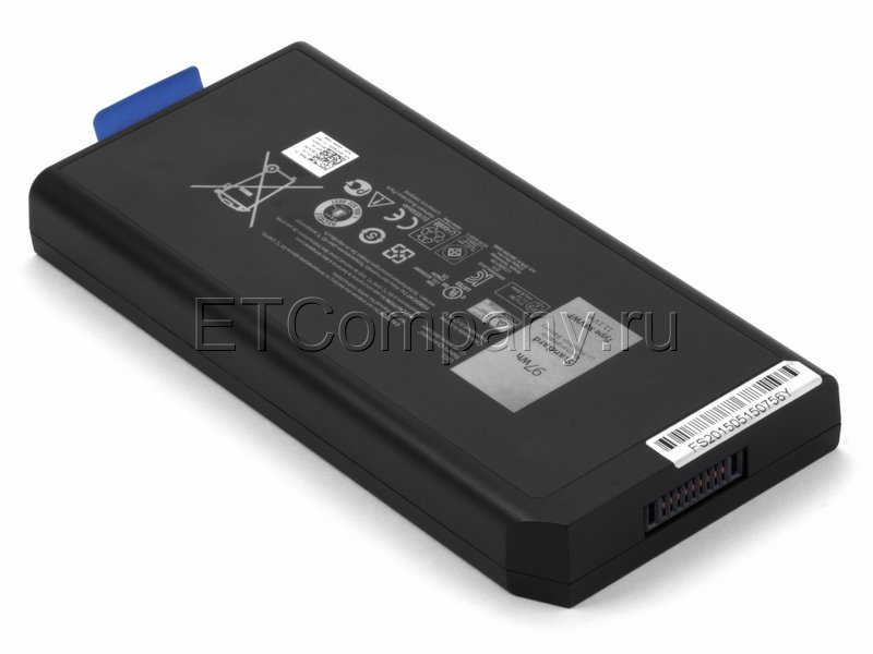 Аккумулятор для Dell Latitude 14 Rugged Extreme (E5404, E7404) серии усиленный, черный