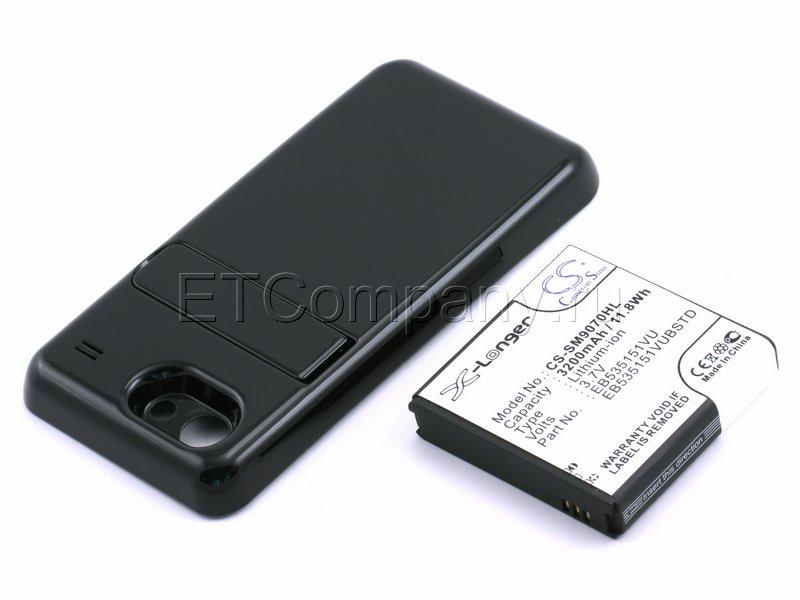Аккумулятор для Samsung Galaxy S Advance GT-i9070 усиленный (чёрная крышка)