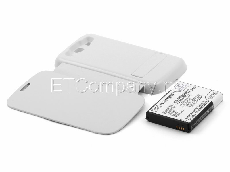 Аккумулятор для Samsung Galaxy S3 i9300 (с NFC) усиленный (белая крышка)