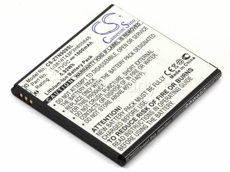 Аккумулятор для ZTE N909, V818 Blade 2, черный