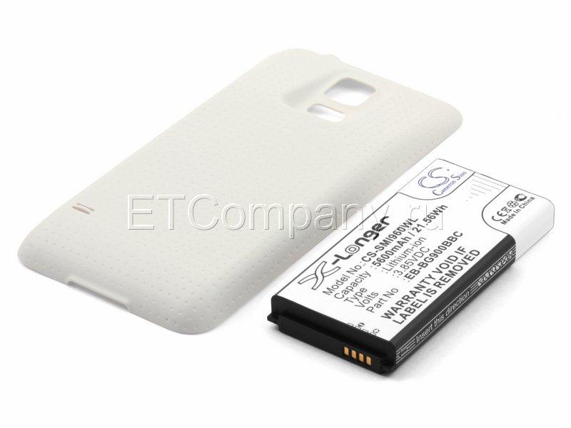 Аккумулятор для Samsung Galaxy S5 , белый, усиленный