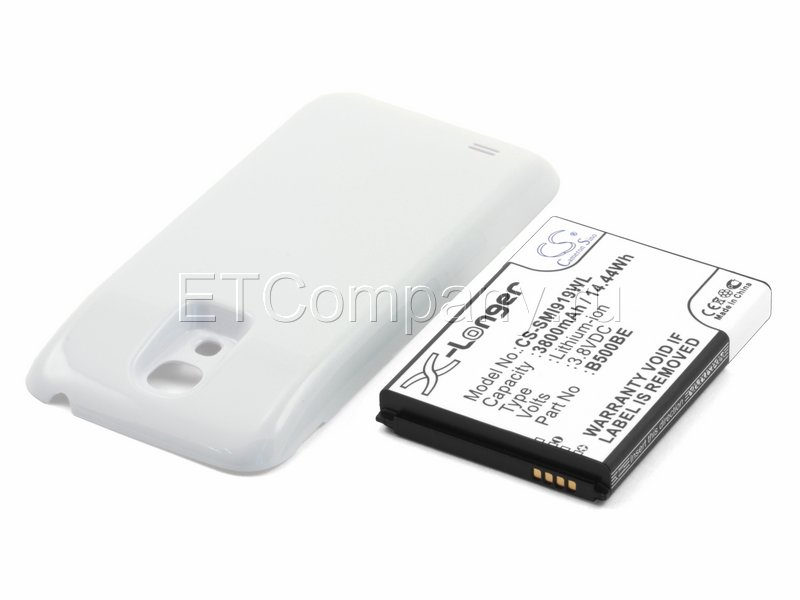 Аккумулятор для Samsung Galaxy S4 Mini, белый, усиленный