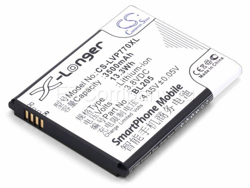 Аккумулятор для Lenovo P770, черный