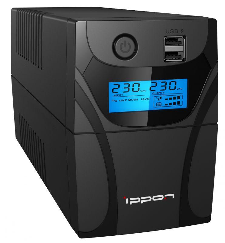 ИБП Ippon Back Power Pro II Euro 850 480Вт 850ВА черный