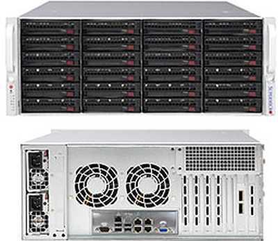 Платформа SuperMicro SSG-6049P-E1CR24H LSI3108 10G 2P 2x1200W