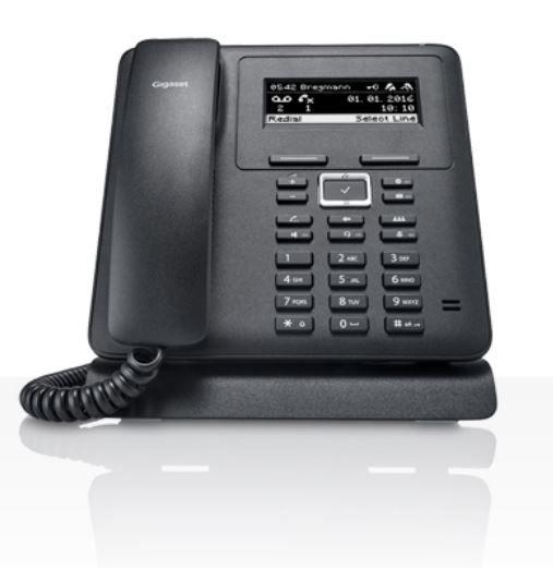 Телефон IP Gigaset Maxwell Basic черный (S30853-H4002-S301)