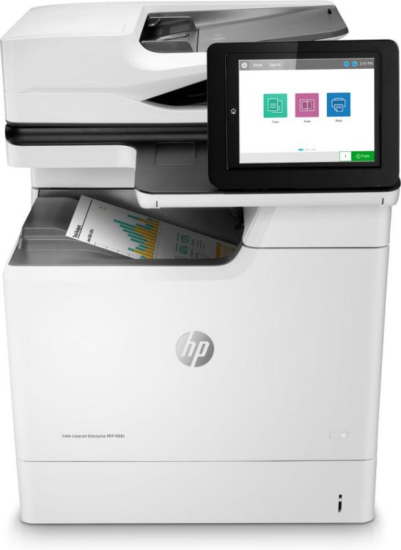 МФУ лазерный HP Color LaserJet Enterprise M681dh (J8A10A) A4 Duplex Net белый/черный