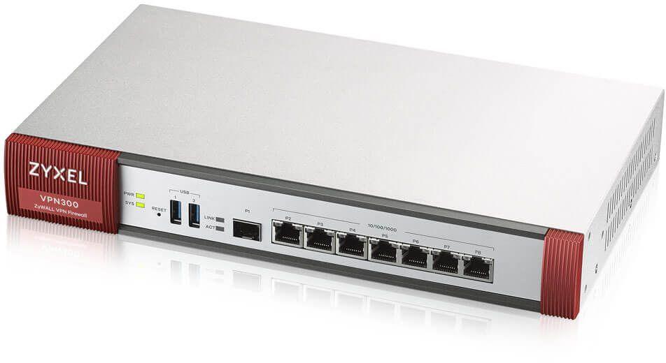 Сетевой экран Zyxel ZyWALL VPN 300 (VPN300-RU0101F) 10/100/1000BASE-TX/SFP серебристый
