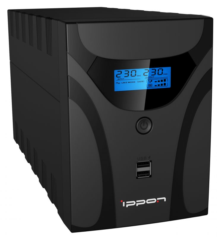 ИБП Ippon Smart Power Pro II Euro 2200 1200Вт 2200ВА черный