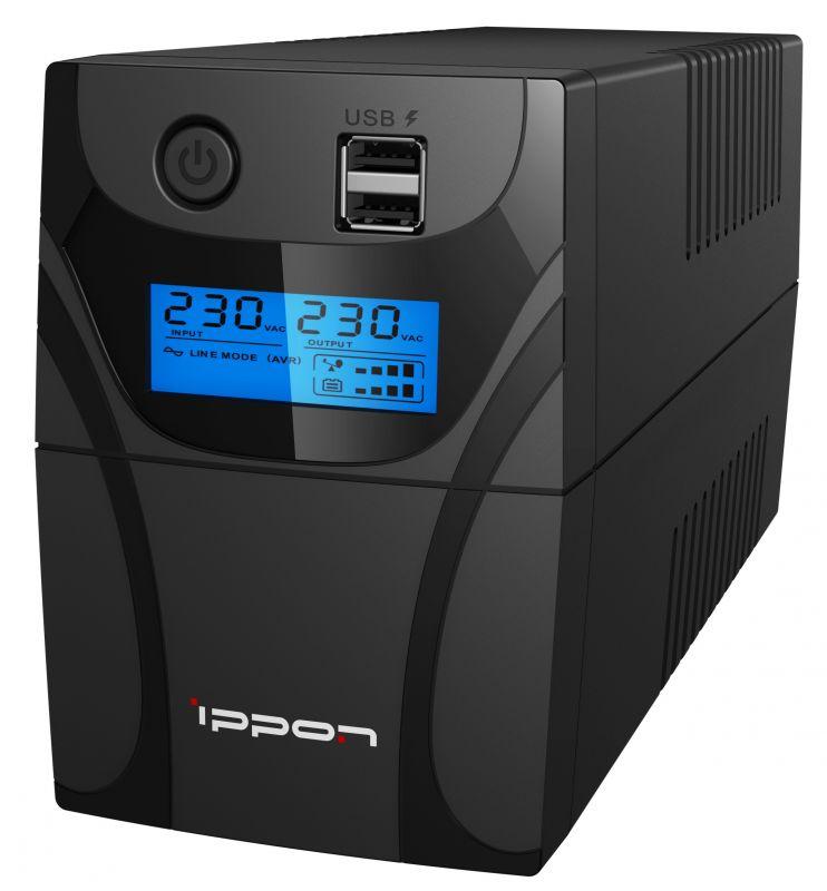 ИБП Ippon Back Power Pro II 800 480Вт 800ВА черный