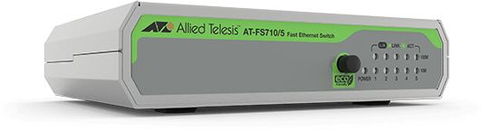 Коммутатор Allied Telesis AT-FS710/5-50 5x100Mb неуправляемый