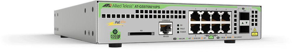 Коммутатор Allied Telesis AT-GS970M/10PS-50 8G 2SFP 8PoE 4PoE+ 124W управляемый