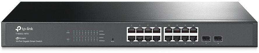 Коммутатор TP-Link T1600G-18TS 16G 2SFP управляемый