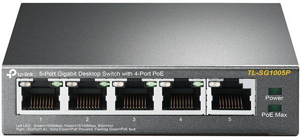 Коммутатор TP-Link TL-SG1005P 5G 4PoE 56W неуправляемый
