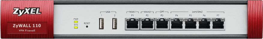 Сетевой экран Zyxel USG110 (USG110-RU0102F) 10/100/1000BASE-TX