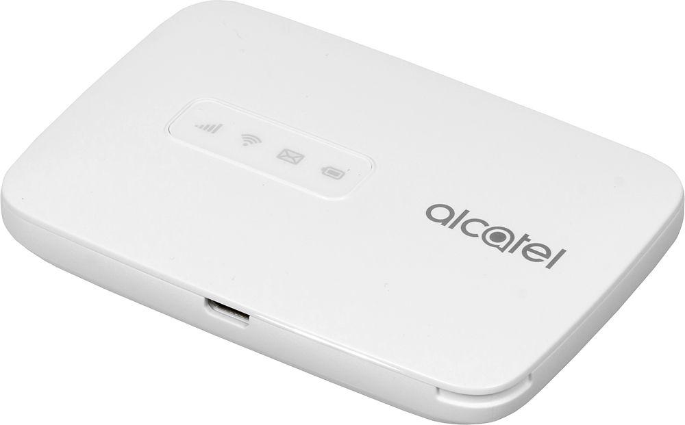 Модем 2G/3G/4G Alcatel Link Zone USB Wi-Fi Firewall +Router внешний белый