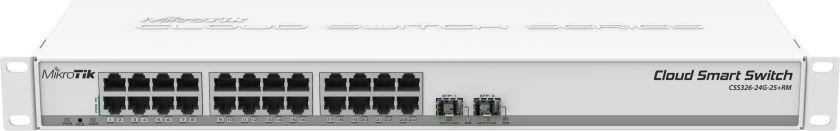 Коммутатор MikroTik CSS326-24G-2S+RM 24G 2SFP+ управляемый
