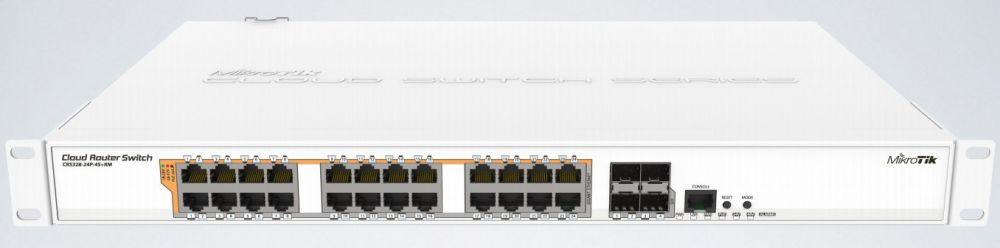 Коммутатор MikroTik CRS328-24P-4S+RM 24G 4SFP+ 24PoE+ 450W управляемый