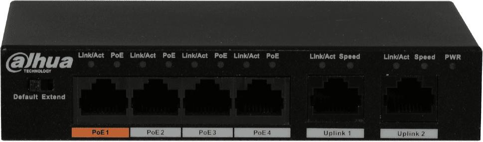 Коммутатор Dahua DH-PFS3006-4ET-60 4x100Mb 4PoE неуправляемый