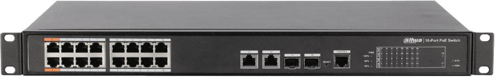 Коммутатор Dahua DH-PFS4218-16ET-190 16x100Mb 2G 16PoE управляемый