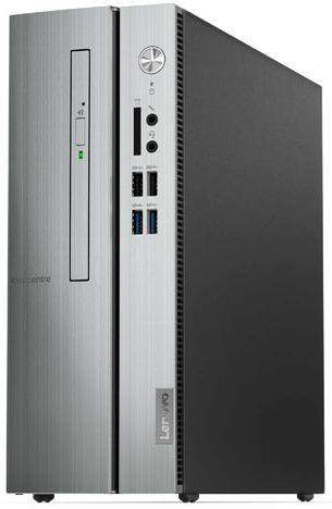 ПК Lenovo IdeaCentre 510S-07ICB SFF i3 8100 (3.6)/4Gb/1Tb 7.2k/DVDRW/CR/Free DOS/GbitEth/серебристый