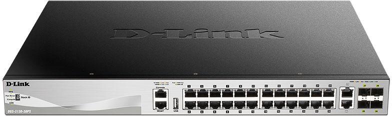 Коммутатор D-Link DGS-3130-30PS/A1A 24G 2x10G 4SFP+ 24PoE 370W управляемый