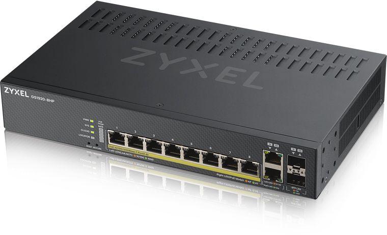 Коммутатор Zyxel NebulaFlex GS1920-8HPV2-EU0101F 8G 8PoE+ 130W управляемый