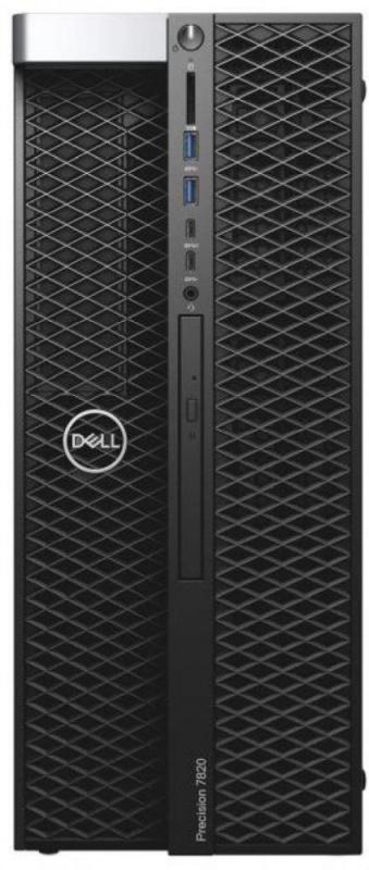 ПК Dell Precision T5820 MT Core i9 9900X (3.5)/16Gb/1Tb 7.2k/SSD256Gb/DVDRW/Linux Ubuntu/GbitEth/950W/клавиатура/мышь/че