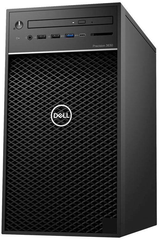 ПК Dell Precision 3630 MT i7 8700 (3.2)/8Gb/SSD256Gb/UHDG 630/DVDRW/Windows 10 Professional 64/GbitEth/460W/клавиатура/м