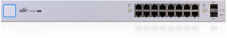 Коммутатор Ubiquiti UniFi Switch US-16-150W-EU 16G 2SFP 16PoE управляемый