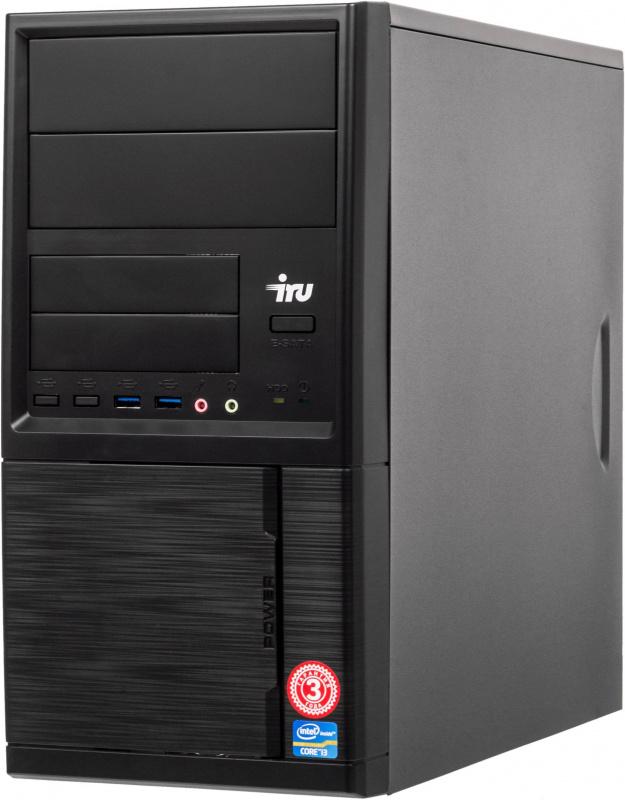 ПК IRU Home 228 MT A10 9700 (3.5)/4Gb/1Tb 7.2k/R7/Windows 10 Home Single Language 64/GbitEth/400W/черный
