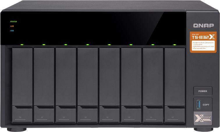 Сетевое хранилище NAS Qnap Original TS-832X-8G 8-bay