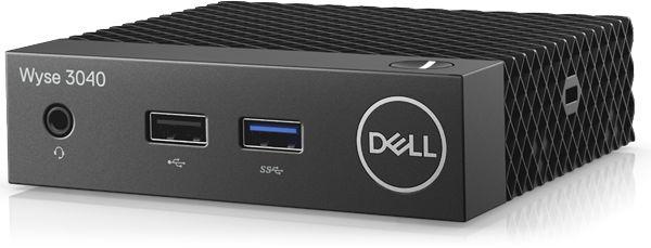 Тонкий Клиент Dell Wyse Thin 3040 (1.44)/2Gb/SSD16Gb/HDG400/ThinLinux/GbitEth/15W/черный