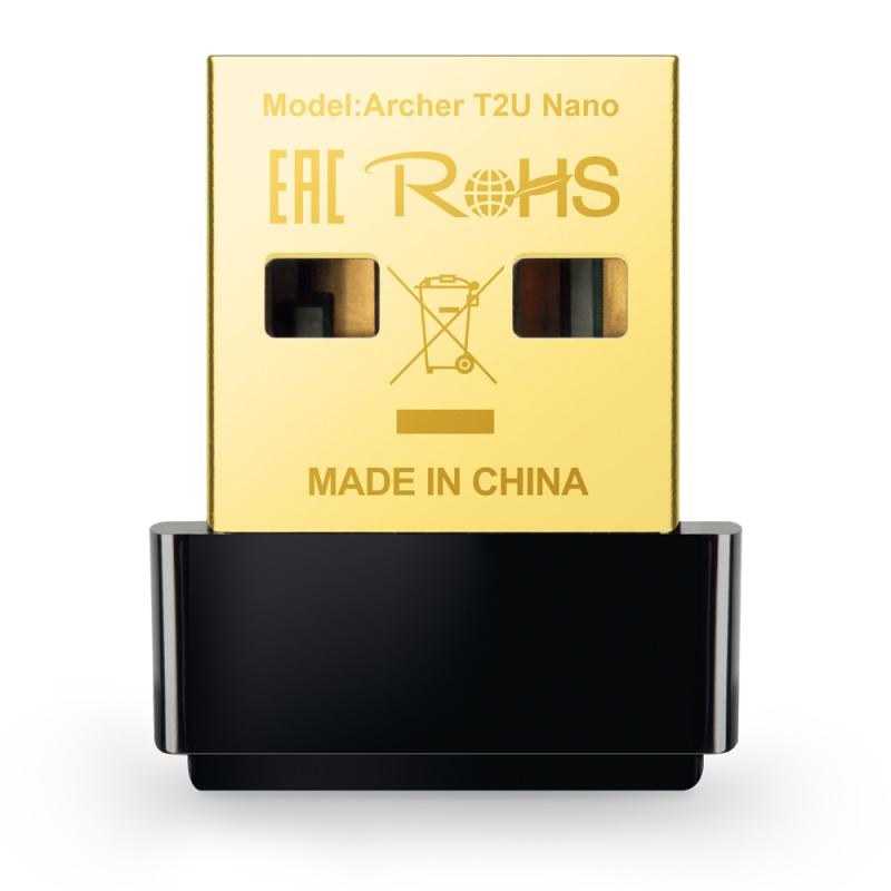 Сетевой адаптер WiFi TP-Link Archer T2U NANO AC600 USB 2.0