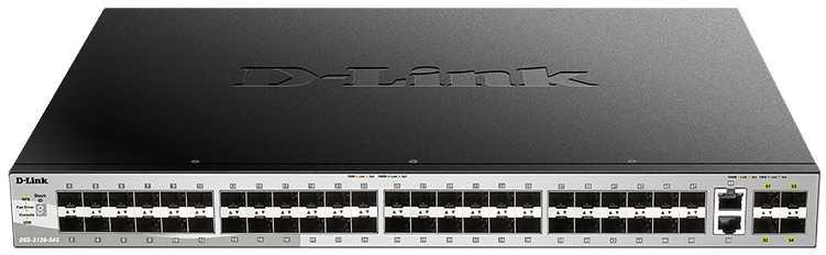 Коммутатор D-Link DGS-3130-54S/A1A 2x10G 48SFP управляемый