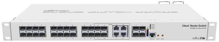 Коммутатор MikroTik CRS328-4C-20S-4S+RM 20SFP 4SFP+ управляемый