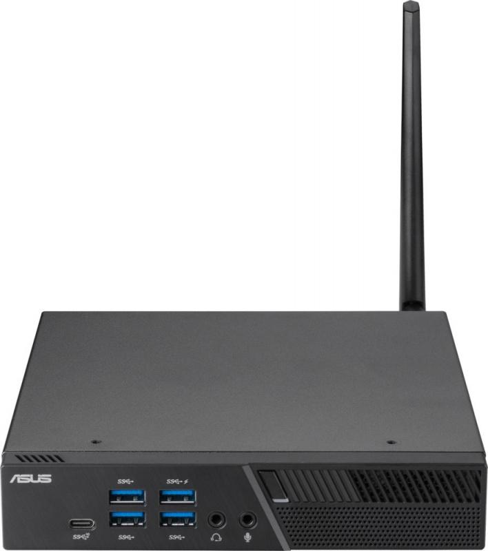 Неттоп Asus PB50-BR021MV R7 3750H (2.3)/4Gb/SSD128Gb/RX Vega 10/noOS/GbitEth/WiFi/BT/90W/черный