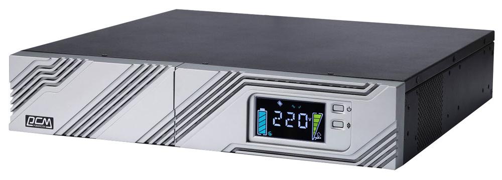 ИБП Powercom Smart King RT SRT-1000A LCD 900Вт 1000ВА черный
