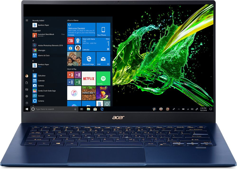 Ультрабук Acer Swift 5 SF514-54T-759J Core i7 1065G7/16Gb/SSD1Tb/Intel Iris Plus graphics/14