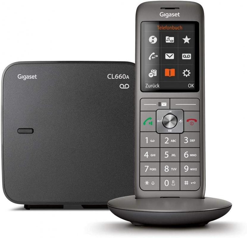 Р/Телефон Dect Gigaset CL660A черный автооветчик АОН