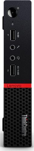 ПК Lenovo ThinkCentre M715q Tiny slim A6 Pro 9500E (3)/4Gb/SSD128Gb/R5/noOS/GbitEth/65W/клавиатура/мышь/черный