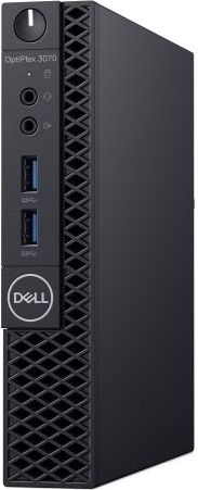 ПК Dell Optiplex 3070 Micro i3 9100T (3.1)/4Gb/500Gb 7.2k/UHDG 630/Linux Ubuntu/GbitEth/WiFi/BT/65W/клавиатура/мышь/черн
