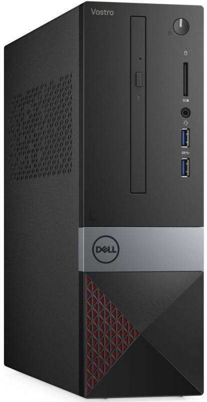 ПК Dell Vostro 3471 SFF PG G5420 (3.8)/4Gb/1Tb 7.2k/UHDG 610/DVDRW/CR/Linux/GbitEth/WiFi/BT/200W/клавиатура/мышь/черный