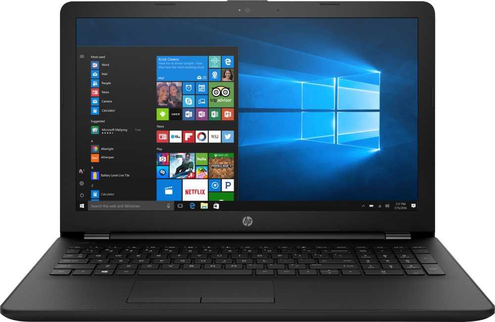 Ноутбук HP 15-ra002ur Celeron N3060/4Gb/SSD128Gb/Intel HD Graphics 400/15.6