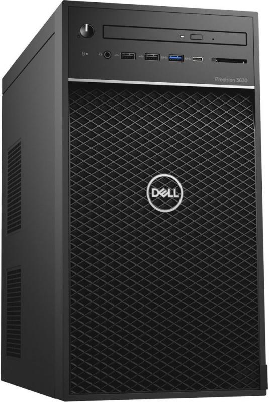 ПК Dell Precision 3630 MT i7 8700 (3.2)/16Gb/SSD256Gb/Pro WX 5100 8Gb/DVDRW/Windows 10 Professional/GbitEth/460W/клавиат